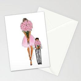 Mother's Day little boy dark hair dark skin Stationery Cards