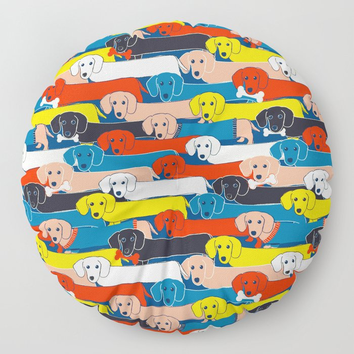 COLORED DOGS PATTERN 2 Floor Pillow