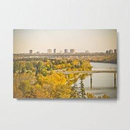 Fall in the city Metal Print