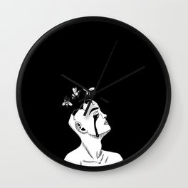 Bee-Head Wall Clock