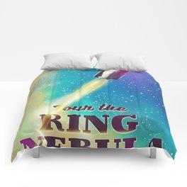 Tour the ring nebular sci-fi poster Comforters
