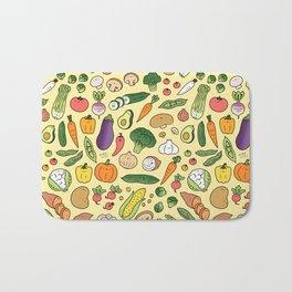 Veggie Friends Doodle Bath Mat