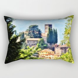 Duomo of Barga (color) Rectangular Pillow