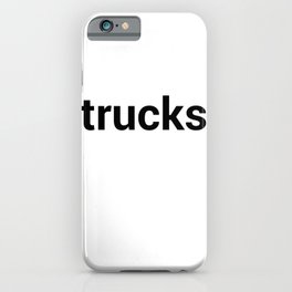 trucks iPhone Case