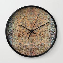 Kashan Floral Persian Carpet Print Wall Clock