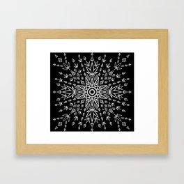 Canna Burst Framed Art Print