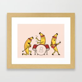 Bandana Banana Band Framed Art Print
