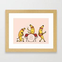 Bandana Banana Band Framed Art Print