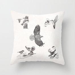 Bird Montage Throw Pillow