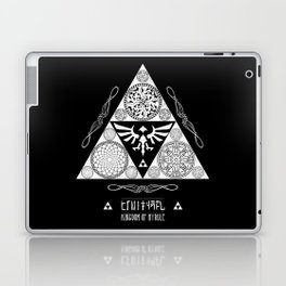 Legend of Zelda Kingdom of Hyrule Crest Letterpress Vector Art Laptop & iPad Skin