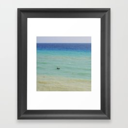 boats against the current (revisited) Framed Art Print
