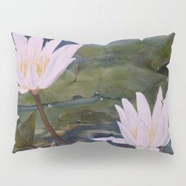 Watercolor Flower Water Lily Landscape Nature Pillow Sham