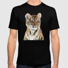 Little Tiger Black SMALL Mens Fitted Tee