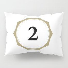 Vintage Number 2 Monogram Pillow Sham