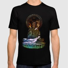 Buddah - San Francisco Japanese Tea Garden Black Mens Fitted Tee MEDIUM