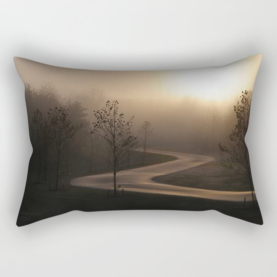 The long and winding misty and moody road Rectangular Pillow