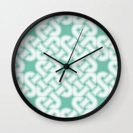Green Celtic Knot Pattern Wall Clock