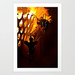 Flaming Mohawk Art Print