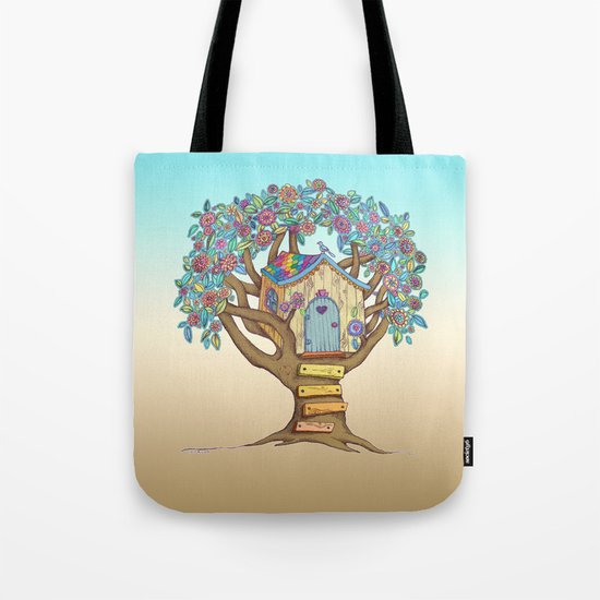 Live Simply, Love Trees Tote Bag