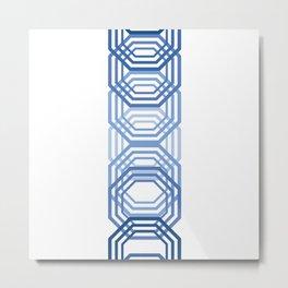 Blue Hexagons Metal Print
