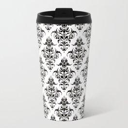 Damask Pattern | Black and White Travel Mug