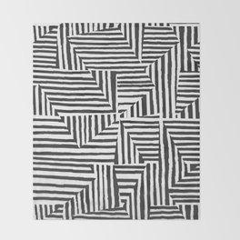 Optical Illusion Sketch Throw Blanket