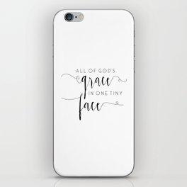 Gods Grace SVG, Baby Girl SVG, New Baby svg, Gift from God svg, Tiny Face svg iPhone Skin