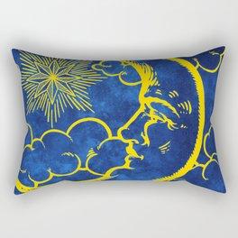 Moon vintage yellow Rectangular Pillow
