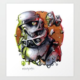 Skully Trooper Art Print