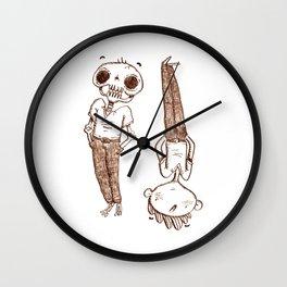 Skull Mirror Wall Clock