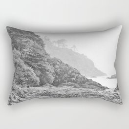Washington Coast Mist Fog Shoreline Beach Pacific Ocean Long Beach Beards Hollow Forest Northwest Rectangular Pillow