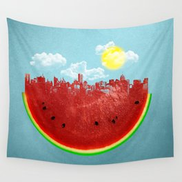 Watermelon City Wall Tapestry