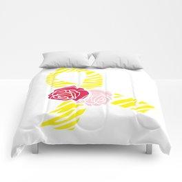 Endometriosis Awareness Ribbon Comforters