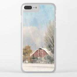 Winters Edge Clear iPhone Case