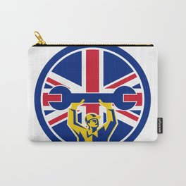 British Mechanic Union Jack Flag Icon Carry-All Pouch