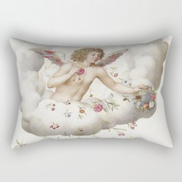 Angel Cloud Flower Rectangular Pillow