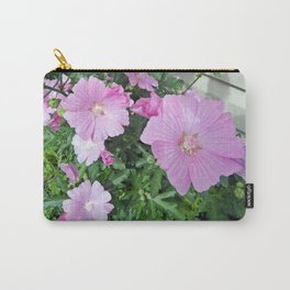 Pink Musk Mallow Bush in Bloom Carry-All Pouch