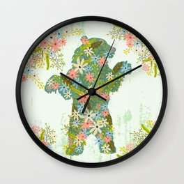 BEAR WITH FLOWERS Wall Clock