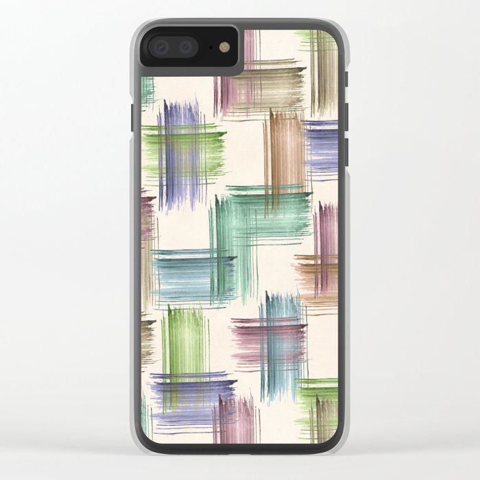 Watercolor brush strokes. Clear iPhone Case