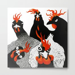Hot chicks Metal Print