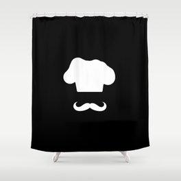 Chef Hat & Mustache Shower Curtain