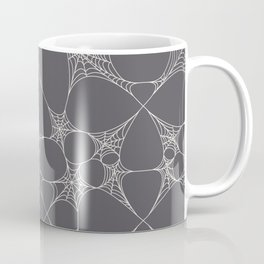 Spiderweb Pattern in Black Coffee Mug