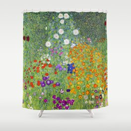 Flower Garden - Gustav Klimt Shower Curtain