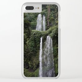 Lombok Waterfall Clear iPhone Case