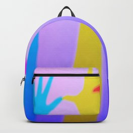 Colored silhouette shadow of hands Backpack