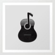 Classical Notes Art Print