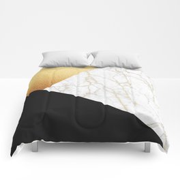 GOLDEN MARBLE TRIANGLE Comforters