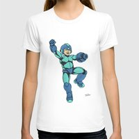 mega man T-shirts featuring Mega Man by Ramon Villalobos