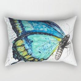 Morning Citrus Butterfly Rectangular Pillow