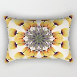 Tulips Mandala III Rectangular Pillow